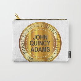 John Quincy Adams Gold Metal Stamp Carry-All Pouch
