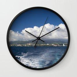 Caribbean Island Panorama Wall Clock