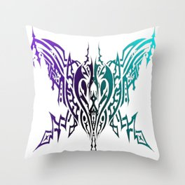 Tribal Spider Purple and Turquoise Throw Pillow