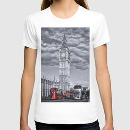 London 3 Buses with Big Ben T-shirt