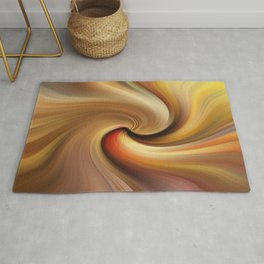 Abstract image composed of colored lines that create spirals Rug
