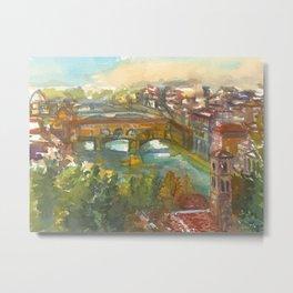 Ponte Vecchio on the Arno River Metal Print