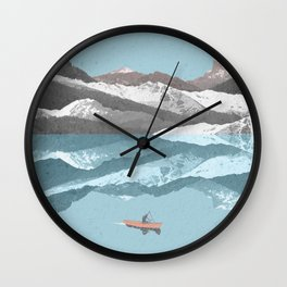 No River Wide Enough Wall Clock