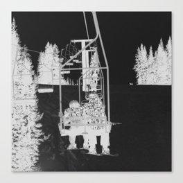 Inverted Ski Lift Canvas Print