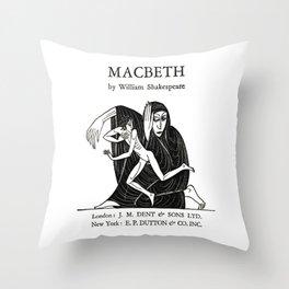 Macbeth William Shakespeare Book Cover Throw Pillow