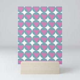 Pink and Turquoise Pattern Mini Art Print