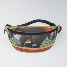 Raccoon Colorful Fanny Pack