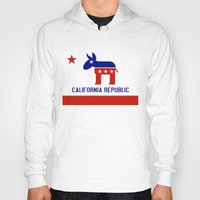 political Hoodies featuring Political California Republic Democrat by NorCal
