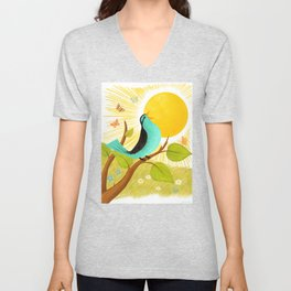 Early To Rise Unisex V-Neck