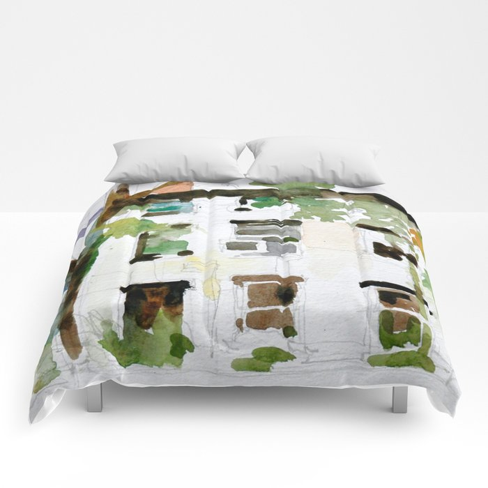 Brownstones and Tree Comforters