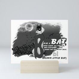 B IS FOR BAT Mini Art Print