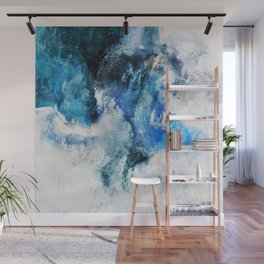 Waves Abstract Painting - Minimalist Seascape Painting Wall Mural