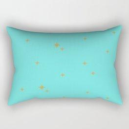 Turquoise Starburst Pattern Rectangular Pillow