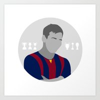 messi Art Prints featuring Messi by fabifa
