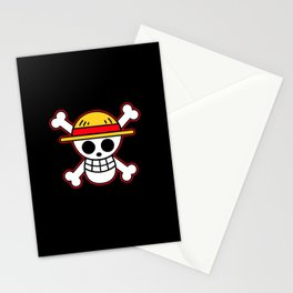 Straw hat Flag Stationery Cards