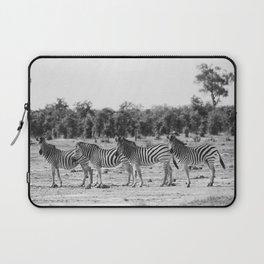 Zebra In A Row Laptop Sleeve