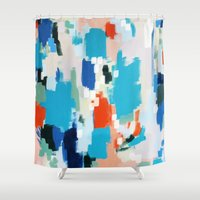 cape cod Shower Curtains featuring Cape Cod by kristinesarleyart