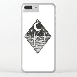 Desert Dreamin Clear iPhone Case