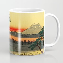 Japanese Tea House on River Coffee Mug