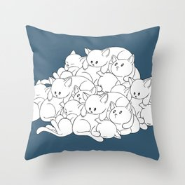 Pile o' Kitties Throw Pillow