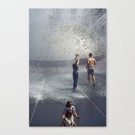 Fountain Folks Canvas Print
