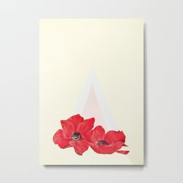 Floral Triangle Metal Print