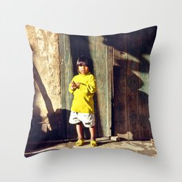 Cham Village of Vietnam Throw Pillow