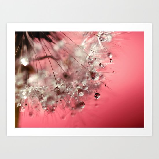 New Year's Pink Champagne Art Print