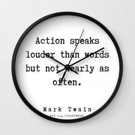 4     | Mark Twain Quotes | 190730 Wall Clock