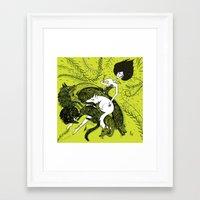 dress Framed Art Prints featuring Dress by Oeilbleu
