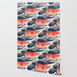 The Great Wave of Sloth Wallpaper