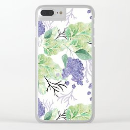 Lilac flowers on a white background. Clear iPhone Case