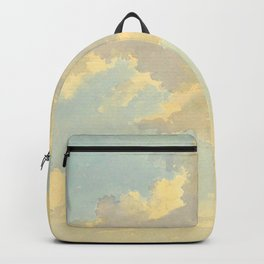 Watercolor Sunrise Clouds Heavenly Pastel Warm Colors Backpack