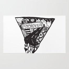 Psychoville black ink drawing Rug