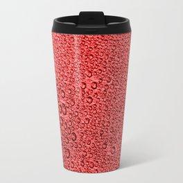 Water Condensation 05 Red Travel Mug