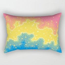 Pan Pride Flag Galaxy Rectangular Pillow