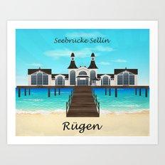 Seebrücke Sellin Art Print