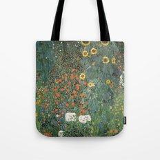 Gustav Klimt - Farm Garden with Sunflowers Tote Bag