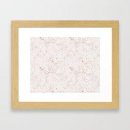 Vintage Rose Marble Gold Mine Framed Art Print
