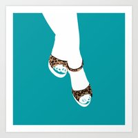 feet Art Prints featuring feet by paulo de tarso