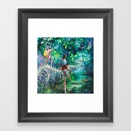Dopamine Jungle Framed Art Print
