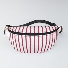 Royal Red Rose Pinstripe on White Fanny Pack