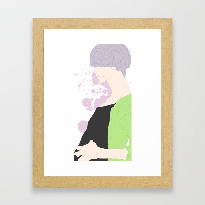 Mauve Gris Framed Art Print