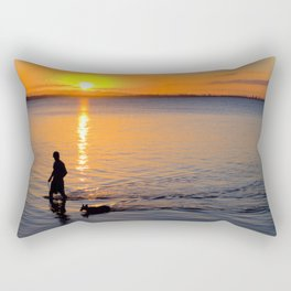 Wading in the Sunset Rectangular Pillow