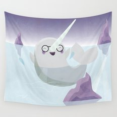 Norman the Near-Sighted Narwhal Wall Tapestry