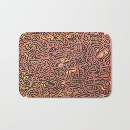 autumn vibes - water color doodle Bath Mat