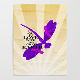 Dragonflies Green Earth Love Poster