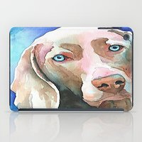 greg guillemin iPad Cases featuring Greg The Weimaraner by bmeow