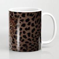 daenerys Mugs featuring LEOPARD KING by alexa