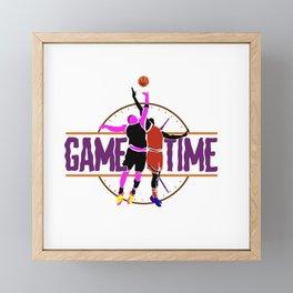 Game time basketball Framed Mini Art Print